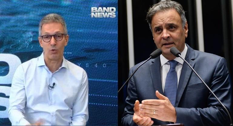 Divergência de opiniões entre o governador Romeu Zema e o deputado federal Aécio Neves sobre a obrigatoriedade da vacinação contra a Covid-19. Montagem Mais Vertentes