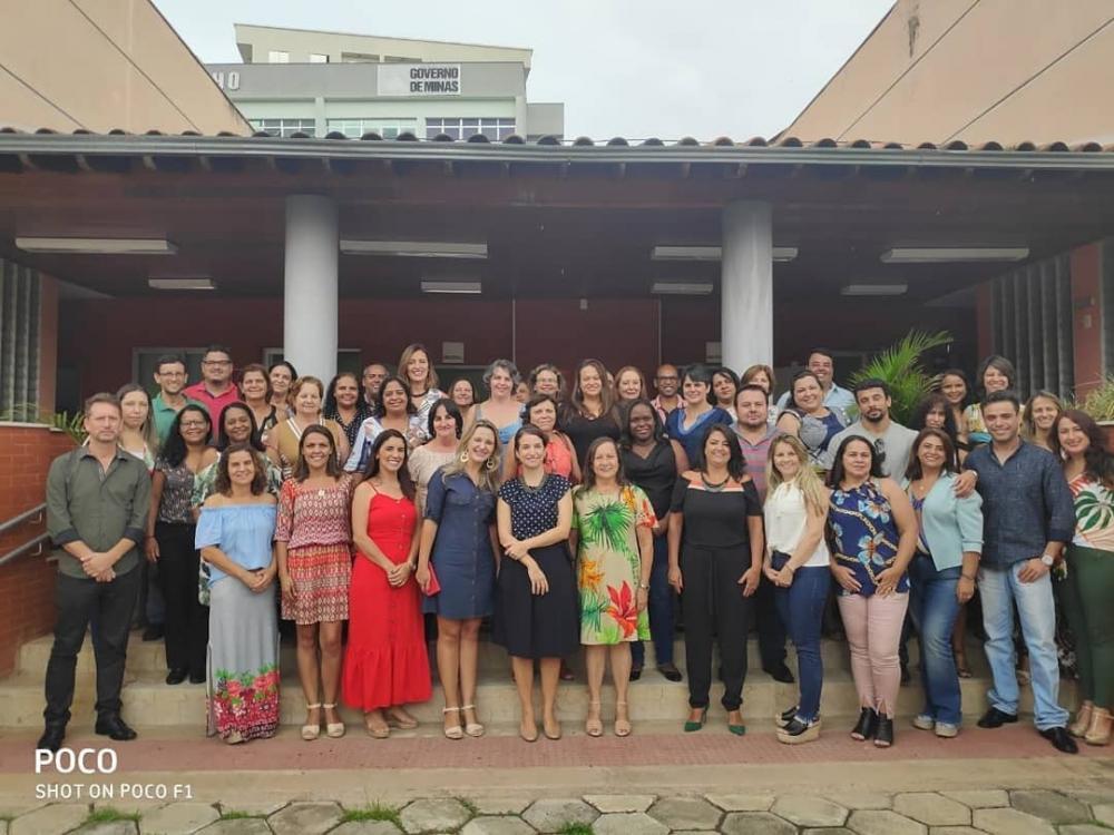 A Secretária de Educação de Minas Gerais, Julia Sant'Anna, esteve em São João del-Rei. Foto: Reprodução rede social