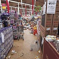 Situação da loja após tumulto causado hoje por algumas pessoas atrás de ofertas da Black Friday - foto: redes sociais