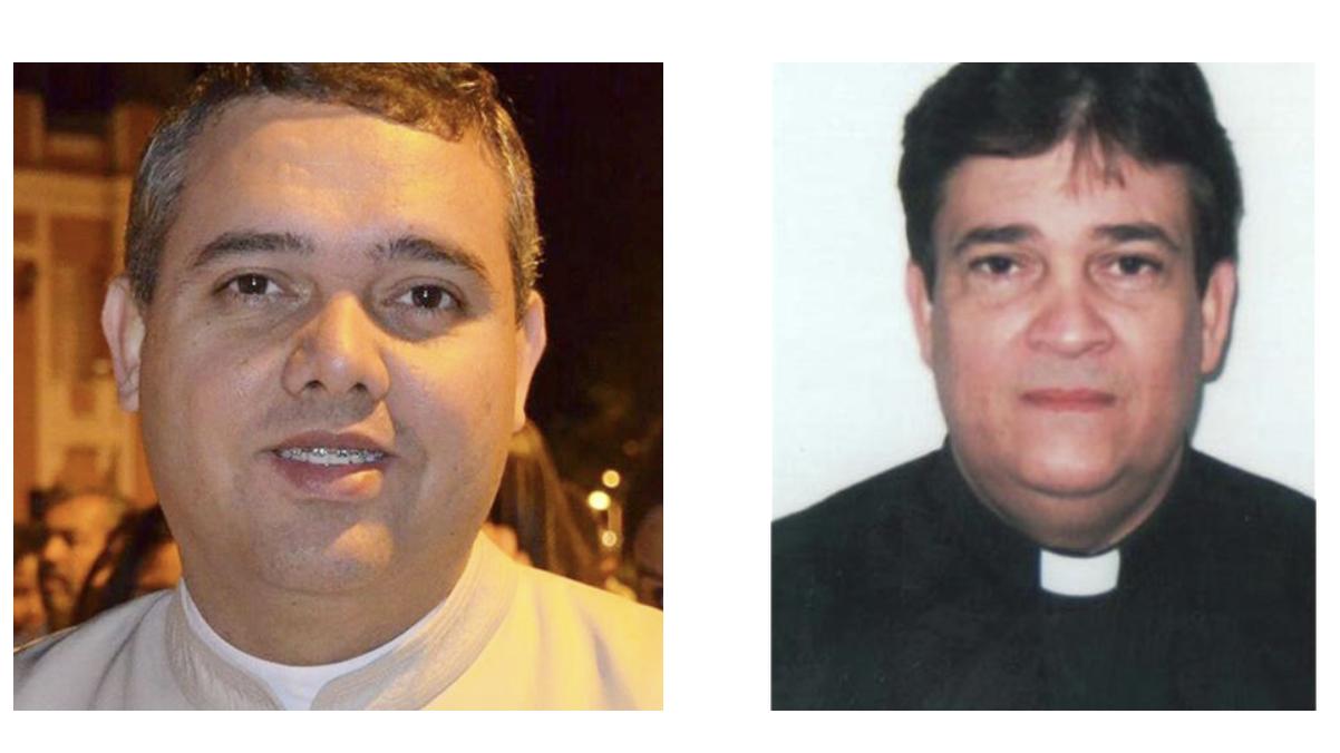 Padres Geraldo Magela da Silva e Ilton de Paula Resende. Fotos: Diocese de SJDR