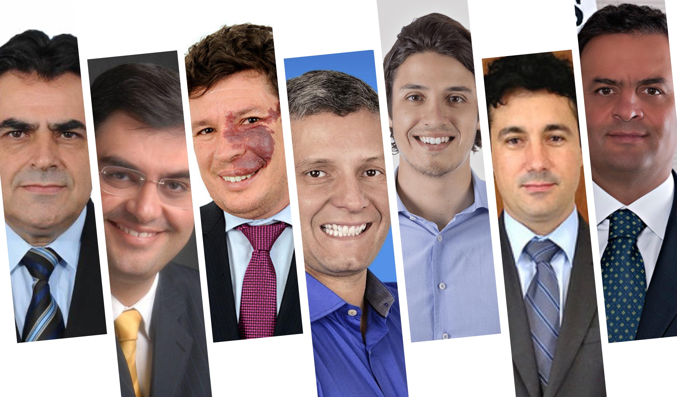 Deputados eleitos do Campo das Vertentes. Fotos: divulgação / Mais Vertentes
