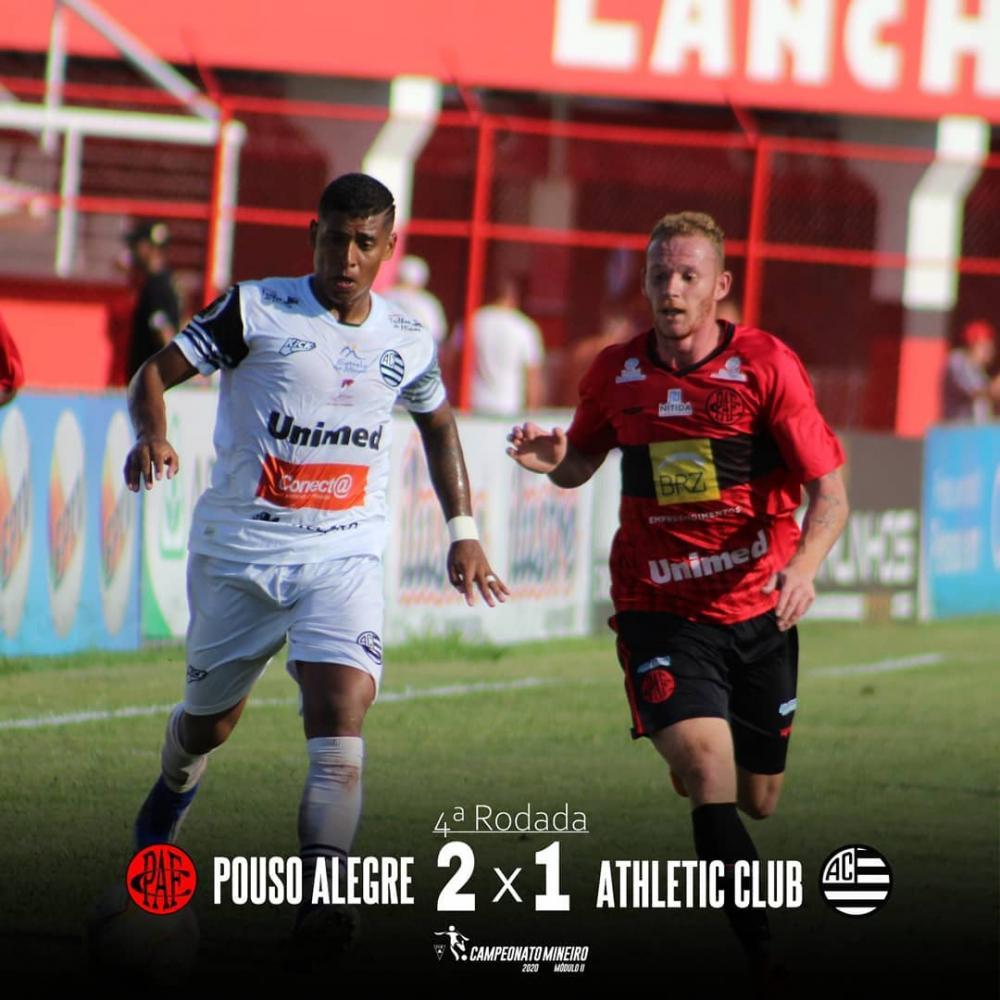 4ª Rodada do Módulo II, Campeonato Mineiro. Athletic x Pouso Alegre. Foto: Divulgação