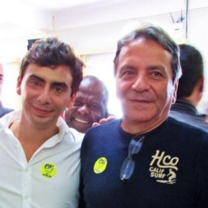 Ex-vereador Jorginho Hannas e o pai, vice-prefeito de São João del-Rei, Jorge Hannas. Foto: Divulgação