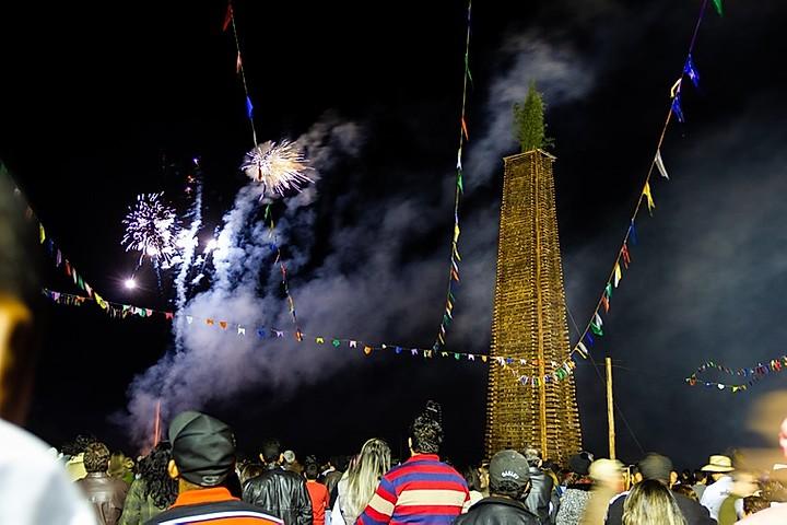 Festa da fogueira de Ingaí, no Campo das Vertentes. Foto: Reprodução